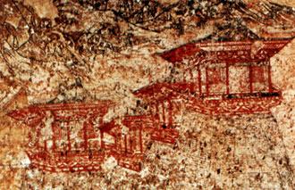 malowidło z grobowca Yide w Qian Ling