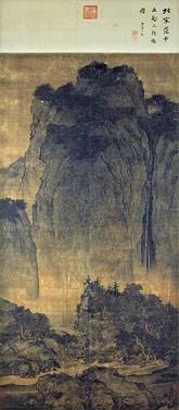 Fan Guan, Wędrujący pośród gór i strumieni