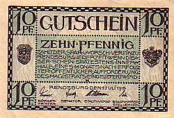 notgeld miasta Rendsburg -1918 r