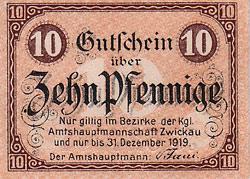 notgeld miasta Zwickau