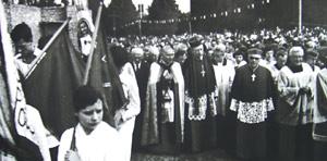 kościół św Franciszka na Okęciu - 1980r
