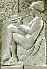 Hetera grająca na flecie