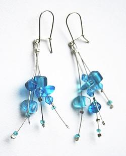 kolczyki niebieskie